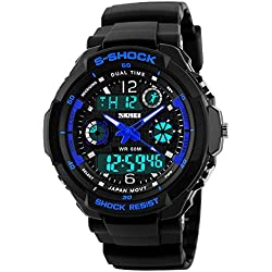 LED Men's Digital Watch Black Army Military Watch Wristwatch Silicone Band Clock