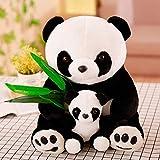 khfkdjsbfcksb Sosteniendo Hojas De Bambú, Madre E Hijo, Muñeca De Peluche Panda, Almohada De Cumpleaños para Niños De Varios Tamaños, Muñeca De Peluche Animal 40cm Madre e Hijo Panda