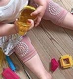 Infant Kleinkind Knie Pads Anti-Rutsch kriechen Sicherheit Displayschutzfolie mit Gummi Dots Kniestützen Beinlinge 12*9*0.4cm Oink