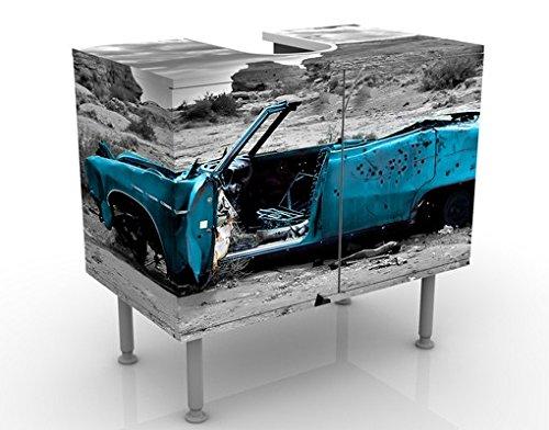 Mobile per lavabo design Turqouise Cadillac 60x55x35cm, basso, Larghezza: 60cm, regolabile, mobiletto da lavandino, lavandino, mobiletto da lavabo, lavabo, mobiletto, bagno, bagnetto, mobile da bagno