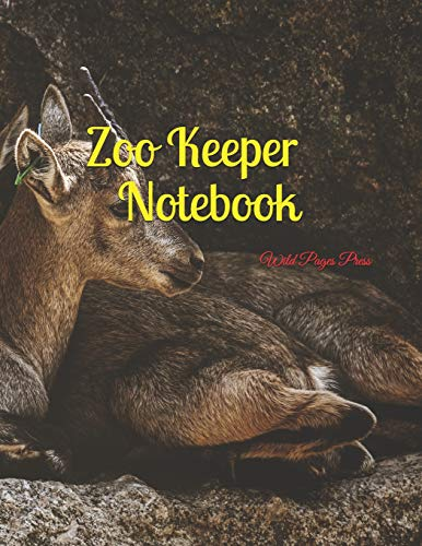Zoo Keeper Notebook: Large Size 8.5 x 11 Ruled 150 Pages ()