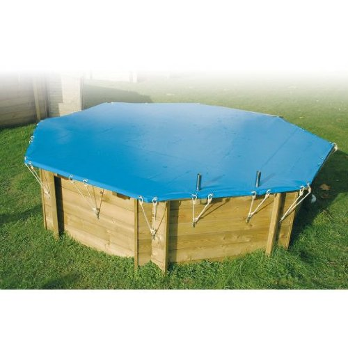 Couverture hivernage de securite pour piscine bois 4.7 x 8.2 m 7514279