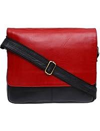 Genuine Leather Unisex Cross-Body Bag (Multi-Coloured)