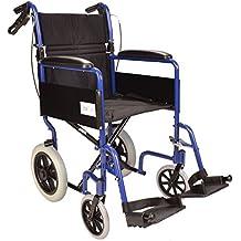 Alluminio leggero transito pieghevole sedia a rotelle