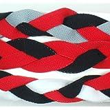 Extreme Sports 3 PACK! Extreme Sports Braided Mini NON SLIP Sports Headband (Red Black Gray-Red Black-Red Black White)