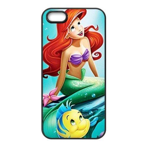 The Little Mermaid neuf Attractive couleur peinture Protecteur de peau et durs Protection d'écran Housses case Etui Coque pour Apple iPhone 55S