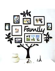 Paper Plane Design 13-Piece Family Tree Set in Black D4