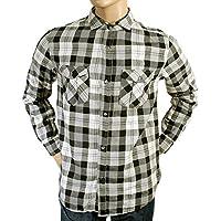 Armani Jeans da uomo, colore: nero e Grigio a quadri U6CO5 AJM1986 NM-Maglietta a maniche lunghe