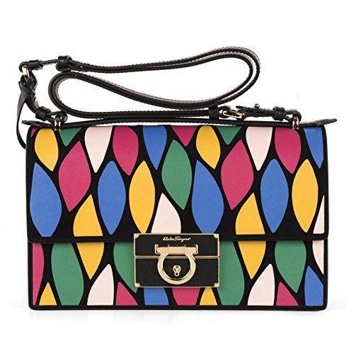 Salvatore-Ferragamo-Womens-0648115-Multicolor-Leather-Shoulder-Bag