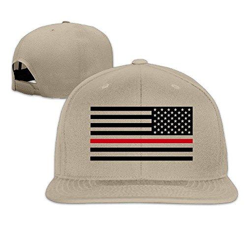 Muscle Run Cap Thin Red Line Flag Firefighter Fashion Snapback Baseball Cap  Flatted Brim Hat. f3b84f83b49e