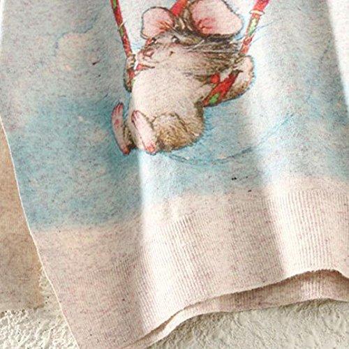 Maglione Natale Da donna batwingManica lunga Colore sciolto knit Maglieria Top,Christmas Sweater Knitwear Tops Rawdah A(47)