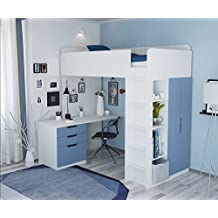 suchergebnis auf f r hochbett mit schrank. Black Bedroom Furniture Sets. Home Design Ideas