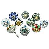 Lote de 10 piezas de cerámica cajón mando MULTI Color Armario tira de las perillas decorativas