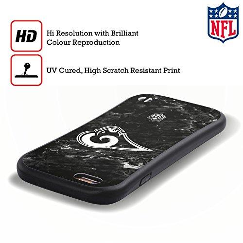 Ufficiale NFL LED 2017/18 Los Angeles Rams Case Ibrida per Apple iPhone 6 Plus / 6s Plus Marmo