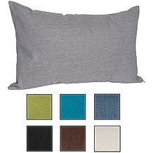 Almohada Para Sofá de Salosan, Cojín Lounge, Almohada Suave Decorativa, Relleno Hipoalergénico - 7 Colores Lisos, Medidas 40 x 70 cm (gris)
