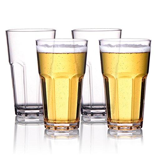 MICHLEY Irrompible Vasos de cerveza,Copas para...