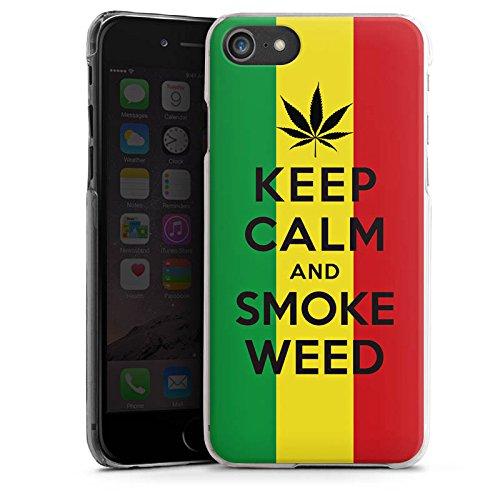 Apple iPhone X Silikon Hülle Case Schutzhülle Keep calm and smoke weed Sprüche Statement Hard Case transparent