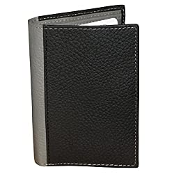 BLACK Unisex Leather Card Holder Wallets with 10 Credit Card Slots