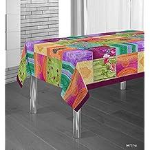 Manteles Springie estampados antimanchas Colores Primaverales Decoracion Hogar (150 x 150 cm)