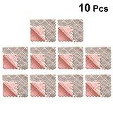 UPKOCH 10 stücke küchengeschirrtuch Baumwolle Reinigungstuch Tuch ölfrei geschirrtuch für Hotel küchenrestaurant Hause grau rosa