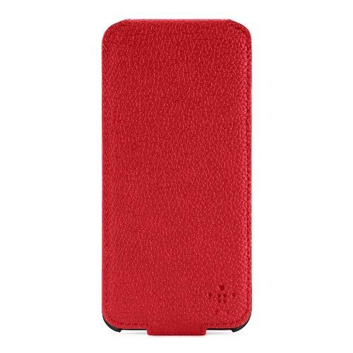 Belkin Snap Folio Leder/Acryl-Schutzhülle für iPhone 5/5s rot/grau Snap Folio