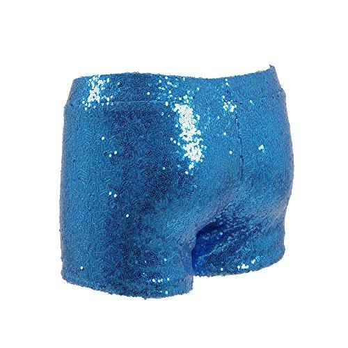 Qingningwenhua Damen Short Blau
