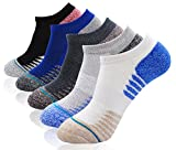 Mens Thick Cushioned Sports Running Socks Ankle Hiking Quarter Socks Outdoor Wicking Trainer Socks, 5 Pairs