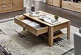 Stella Trading Couchtisch mit Schubkasten, Holz, Braun, 110 x 45 x 60 cm