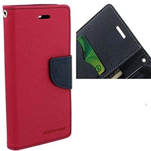 Mzon Mercury Canvas Wallet Case Flip Cover for Samsung Galaxy S Duos S7562/ GT- S7562/ S7582 (Purple)  available at amazon for Rs.199