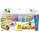 Paper Mate Reynolds Crealo Feutres de coloriage Super lavables (Lot de 24)