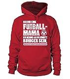 TEEZILY Männer Frauen Kapuzenpullover Ich Bin Eine Fußball-Mama