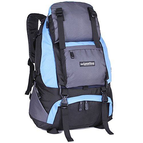Padgene Outdoor Sport Rucksack 40L Wasserdicht Trekkingrucksäcke Wanderrucksäcke Backpack Reiserucksack (Blau) Blau