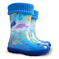 Demar Boys Girls Kids Wellington Boots Wellies Ocean