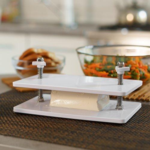 Presse-Set für Tofu, mit 4 Schrauben, Abtropfpresse für festen Tofu und Käse, zum schnellen Entfernen von überschüssigem Wasser und zur Verbesserung von Tofu-Gerichten