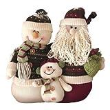 Peluche Pupazzo Di Neve Natale & Babbo Famiglia Piano del tavolo Decorazione
