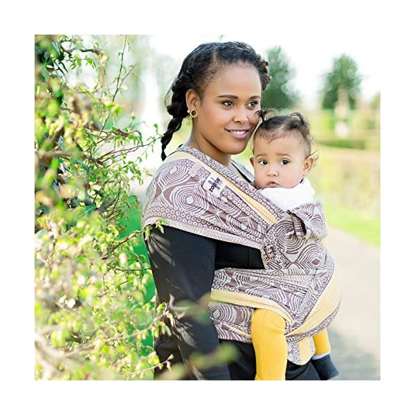 Hoppediz Hop-Tye Conversion Baby Carrier Sling (Timbuktu) Hoppediz The hop-tye conversion is a carrying aid from birth up to approx. 2.5 years You can use the hop-tye conversion for front and rucksack carrying - suitable for a waist up to 160 cm Side parts that can be gathered provide an even better pouch forming of the back panel 5
