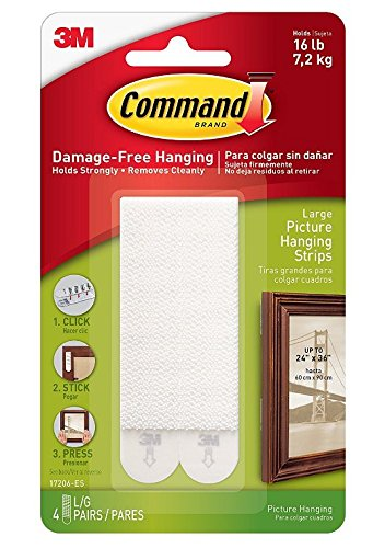 Command Large Picture Hanging Strips, 4 pairs (3)