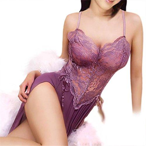♥ Loveso ♥ Damen Unterwäsche Frauen mit Charme Perspektive Wäsche Unterwäsche G String ((Größe):38 (L), Pink) (Sheer G-string)