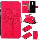Skytar Hülle für Redmi Note 4X,Xiaomi Redmi Note 4 Handytasche,[Glücklicher Baum Serie] PU Leder Brieftasche Stand Folio Cover Case für Xiaomi Redmi Note 4 / Note 4X (5,5 Zoll) Handy Hülle,Hot Rosa