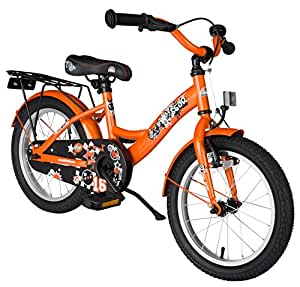 BIKESTAR® Premium Kids Bike ★ For safe and carefree joy of playing kids aged from 4 years ★ 16s Classic Edition ★ Sunny Orange