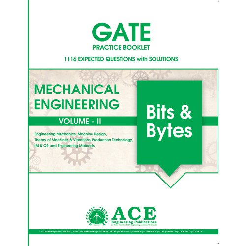 GATE2018 Mechanical Engineering Practice Book Volume 2, 1116 Expected questions with solutions  available at amazon for Rs.285