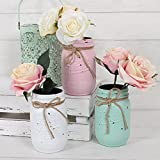 Mini Jam Jar - Perfect for Fresh Flowers & Centrepieces - Various Colours (All Three)