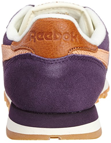 Reebok Unisex-Erwachsene Cl Leather Suede lila/orange