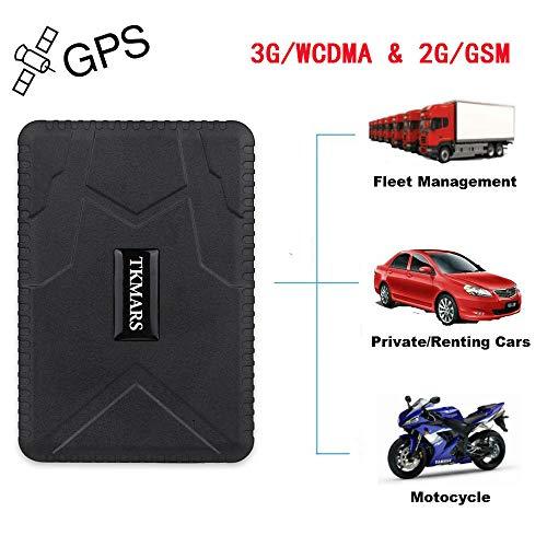 TKMARS Starker Magnet GPS Tracker, GSM/WCDMA/GPRS 3G GPS Tracker Fahrzeug Tracker Echtzeit Monitoring System, Wasserdicht GPS Locator, Anti Verloren GPS Ortungsgerät mit Kostenlos APP für Smartphone