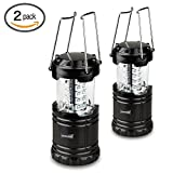 TANSOREN LED Portable Outdoor Collapsible Camping Lantern with 'S' Hook (2-Pack)