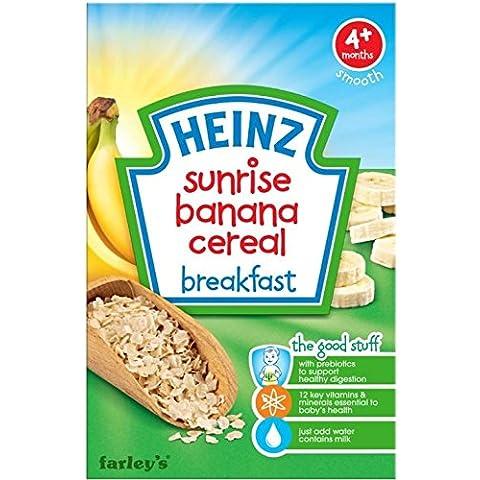 Heinz Cereales Para El Desayuno De Banana La Salida Del Sol Para Bebés 4Mth + (125g) (Paquete de