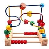 Gobus Bunte Holzperlen Labyrinth Mathematik Lernen zählen Lernen Achterbahn Perlen Labyrinth Schmetterling und Blume bewegliche Perlen pädagogisches Spielzeug für Kinder Kleinkinder