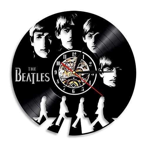 wczzh Vinyl Schallplattenuhr/Sänger Vinyl Clock Beatles Rekord Wanduhr Startseite Kreative Dekoration N18
