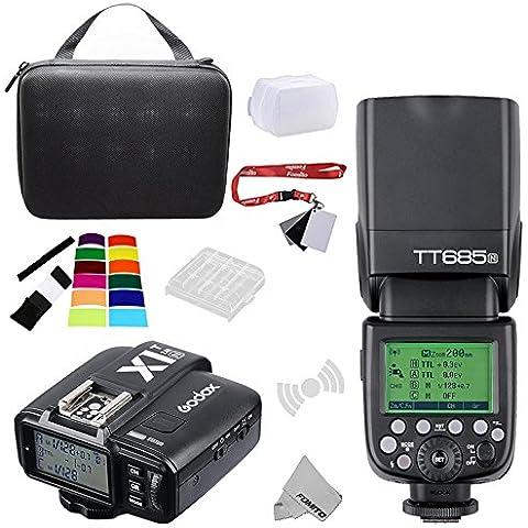 fomito Godox tt685N i-TTL–Disparador de II 2.4GHz Wireless Master/External cámara autoflash Speedlight & x1-n Transmitter HSS para Nikon D810D800E D7200D60D5500DSLR Cámaras, SB900,