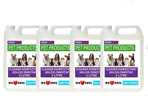 4-x-5-litres-baby-powder-fragrance-pet-kennel-disinfectant-deodoriser